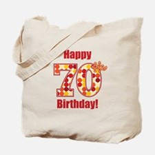 Happy 70th Birthday! Tote Bag