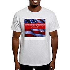 Hammer the Americans-  Ash Grey T-Shirt