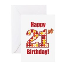 Happy 21st Birthday! Greeting Card