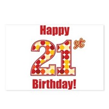 Happy 21st Birthday! Postcards (Package of 8)