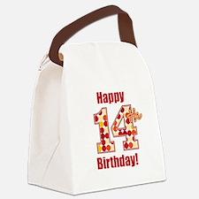 Happy 14th Birthday! Canvas Lunch Bag