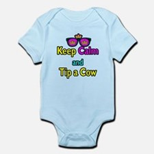 Crown Sunglasses Keep Calm And Tip a Cow Infant Bo
