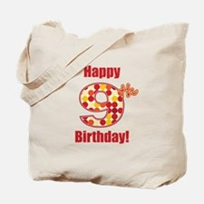 Happy 9th Birthday! Tote Bag