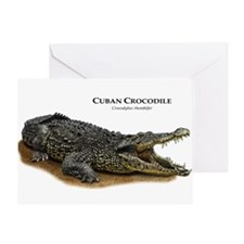 Cuban Crocodile Greeting Card