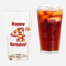 Happy 4th Birthday! Drinking Glass