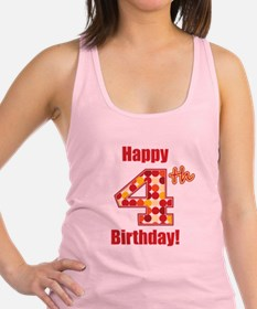 Happy 4th Birthday! Racerback Tank Top