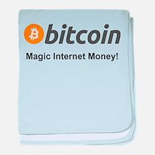 Bitcoin: Magic Internet Money! baby blanket