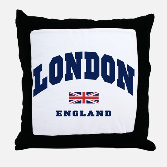 London England Union Jack Throw Pillow