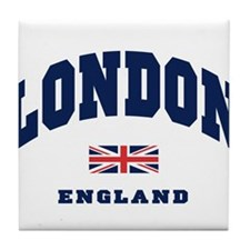 London England Union Jack Tile Coaster