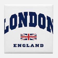 London England Union Jack Tile Coaster