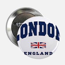 "London England Union Jack 2.25"" Button"
