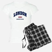 London England Union Jack Pajamas