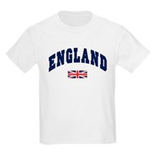 England text Arched with Union Jack Flag T-Shirt