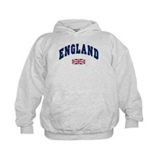 England text Arched with Union Jack Flag Hoodie