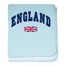 England text Arched with Union Jack Flag baby blan
