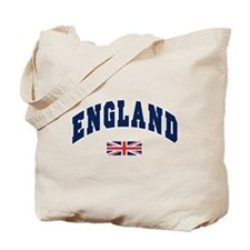 England text Arched with Union Jack Flag Tote Bag