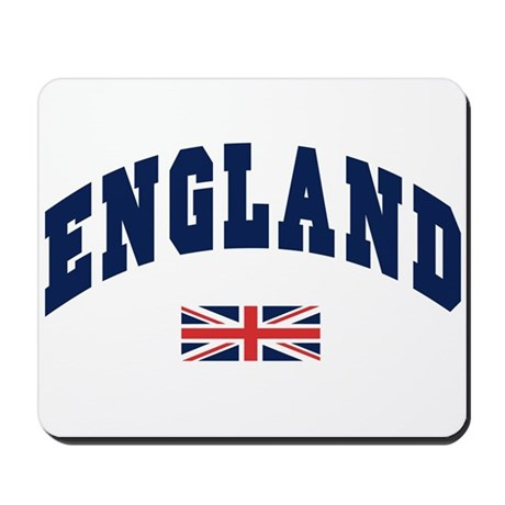 England text Arched with Union Jack Flag Mousepad