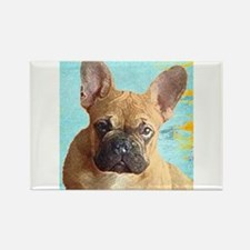 Adorable French Bull Dog Rectangle Magnet