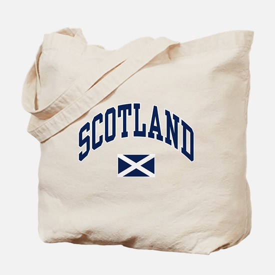 Scotland with Saltire flag Tote Bag