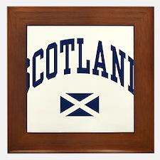 Scotland with Saltire flag Framed Tile