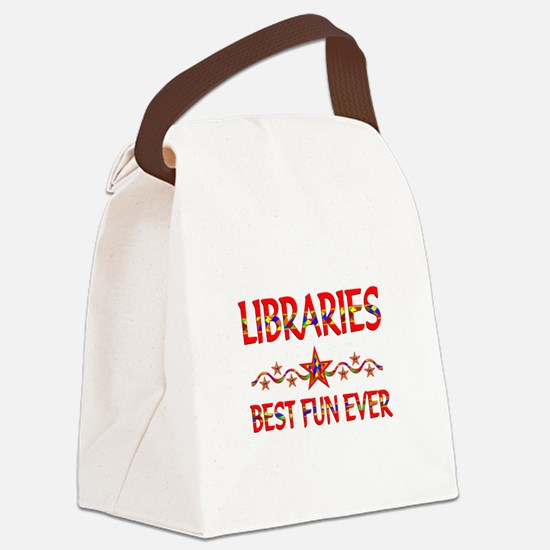 Libraries Best Fun Canvas Lunch Bag