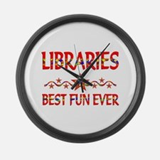 Libraries Best Fun Large Wall Clock