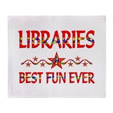 Libraries Best Fun Throw Blanket