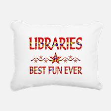 Libraries Best Fun Rectangular Canvas Pillow