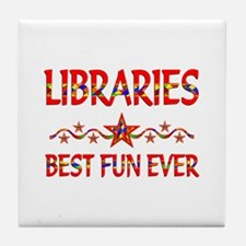 Libraries Best Fun Tile Coaster