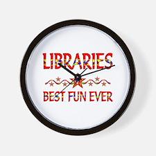 Libraries Best Fun Wall Clock