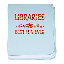 Libraries Best Fun baby blanket