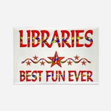 Libraries Best Fun Rectangle Magnet (10 pack)