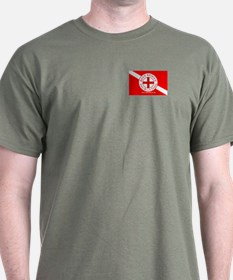 Reef Rescue Dive Flag Sticker T-Shirt