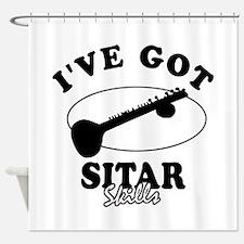 I've got Sitar skills Shower Curtain