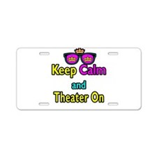 Crown Sunglasses Keep Calm And Theater On Aluminum