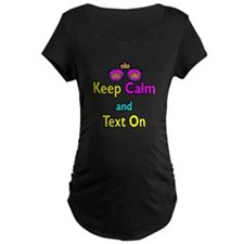 Crown Sunglasses Keep Calm And Text On T-Shirt