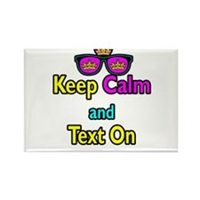 Crown Sunglasses Keep Calm And Text On Rectangle M