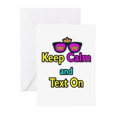 Crown Sunglasses Keep Calm And Text On Greeting Ca
