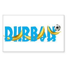 Durban Soccer 2010 Rectangle Decal