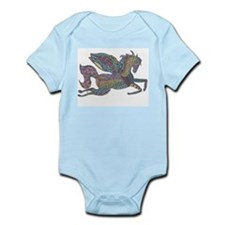 Zentangle Inspired Colored Pegasus Body Suit