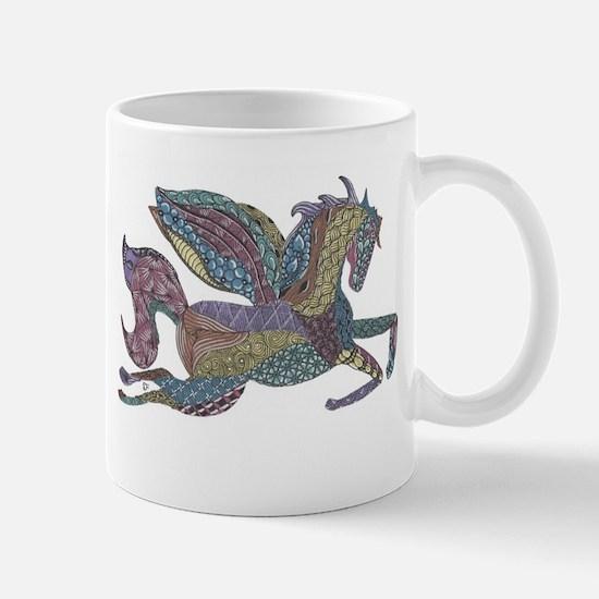 Zentangle Inspired Colored Pegasus Mug
