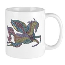 Zentangle Inspired Colored Pegasus Mug