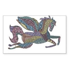 Zentangle Inspired Colored Pegasus Decal