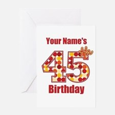 Happy 45th Birthday - Personalized! Greeting Card
