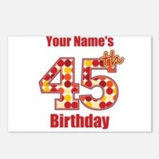 Happy 45th Birthday - Personalized! Postcards (Pac