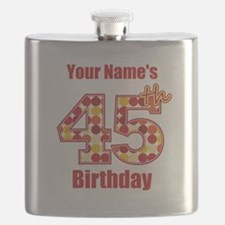 Happy 45th Birthday - Personalized! Flask