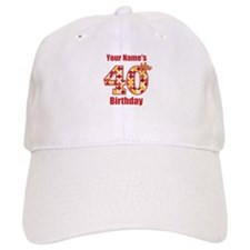Happy 40th Birthday - Personalized! Baseball Baseball Cap