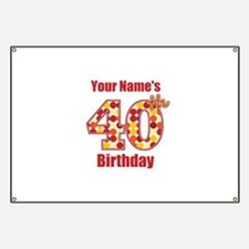 Happy 40th Birthday - Personalized! Banner