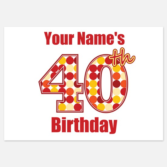 40Th Birthday Invitations for 40th Birthday – Personalized 40th Birthday Invitations