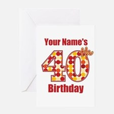 Happy 40th Birthday - Personalized! Greeting Card